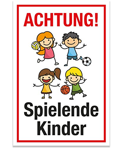 schild achtung spielende kinder schnaeppchen center. Black Bedroom Furniture Sets. Home Design Ideas