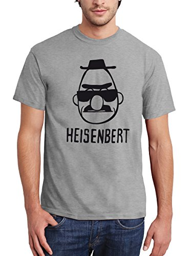 clothinx Herren T-Shirt Heisenbert Sport Grey mit schwarzem Aufdruck