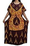 Indiatrendzs Women's Maxi Dress Maroon Y...