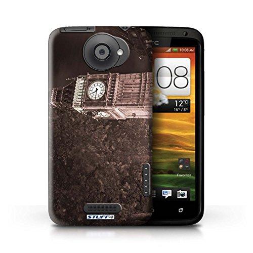 Kobalt® Imprimé Etui / Coque pour HTC One X / Big Ben conception / Série Londres Angleterre Big Ben Sepia
