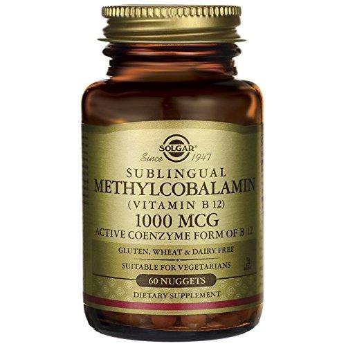 Solgar Sublingual Methylcobalamin (Vitamin B12), 1000 mcg, 60 Nuggets 2 x 2 x 3.4 inches (Sublingual Vitamine B-12 B-12)