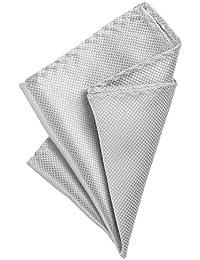 Ocamo - Pañuelo cuadrado de bolsillo para hombre, plateado