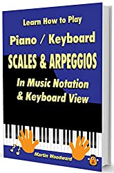 Learn How to Play Piano / Keyboard SCALES & ARPEGGIOS: In Music Notation & Keyboard View (English Edition)