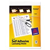 #3: Avery Self-Adhesive Laminating Sheets, 9-inch x 12-inch, Pack of 10 (73603)