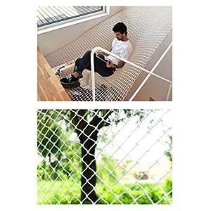 Banister Safety Net Nylon Rope Dense Mesh Stairs Anti Fall Net Outdoor Balcony Protection Net Children Safety Rope Net Kindergarten Decorative Net Fence Mesh Woven Mesh Hammock Swing 2x3m 3x5m 5x8m Mu   7