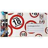 bb10 Schmuck 18. Geburtstag Deko XXL Umschlag für Geldgeschenke oder Gutscheine zum 18. Geburtstag Geburtstagskarte zum 18.Geburtstag