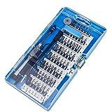 QH-Shop Kit de Tournevis, Outils de Précision de Réparation Magnétique 61 en 1 Tournevis Pozidriv avec Une Pince à épiler et un Arbre d'extension Pour L'électrique Téléphone Mobile DVD TV Ordinateur