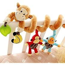 Happy cherry - Juguetes Colgantes de Mono para Cuna Cochecito bebés niños niñas con sonidos