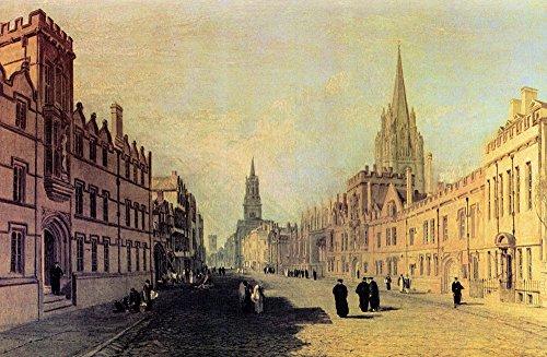 Das Museum Outlet-View der High Street, Oxford von Joseph Mallord Turner, gespannte Leinwand Galerie verpackt. 29,7x 41,9cm