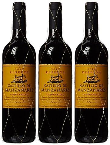 Castillo de Manzanares Tempranillo Reserva 2010 Wine, 75 cl (Case of 3)