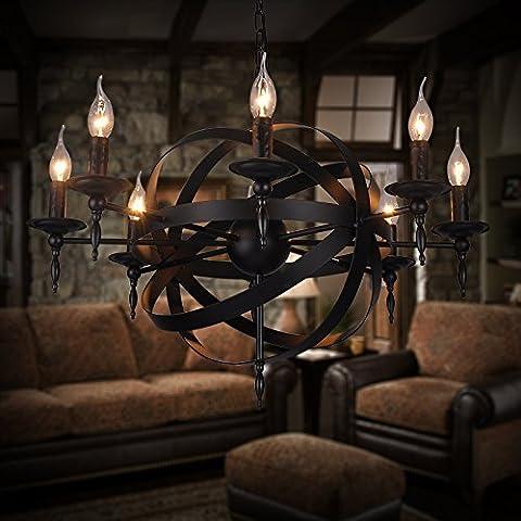 MSUXT lampade a sospensione Villaggio di nostalgia per il ferro