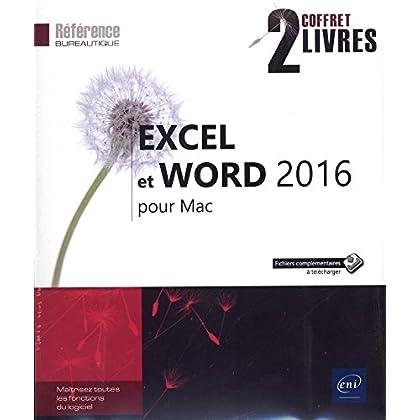 Excel et Word 2016 pour Mac - Coffret de Deux Livres