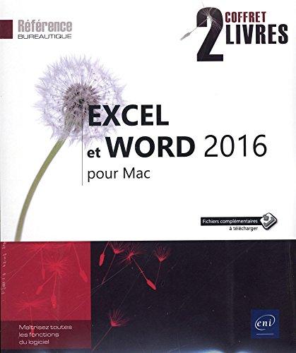Excel et Word 2016 pour Mac : Coffret de deux livres