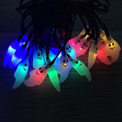Halloween Solar String Lights, Kwock Zwei Modi 4.8m 20 Lichter 3D Laternen für Outdoor, Cosplay, Theme Parties und Haus Dekoration (Hexe (Halloween Draußen Dekorationen Für Hexe)