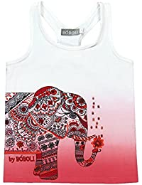 boboli Camiseta Punto Elástico, T-Shirt Bambina