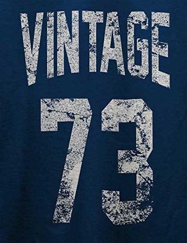 Vintage 1973 T-Shirt Navy Blau