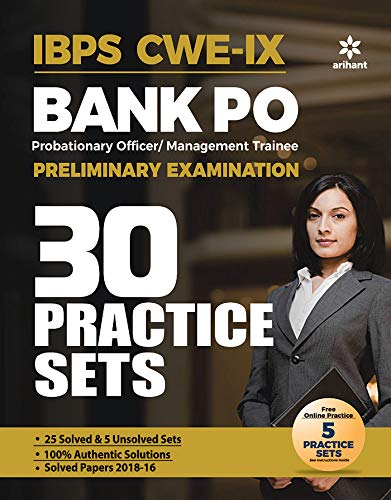 30 Practice Papers IBPS CWE-VIII Bank PO (PO/MT) Preliminary Examination 2019