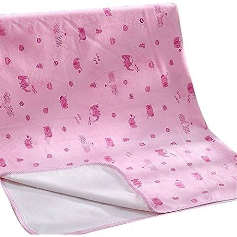 Pañales portátil de 3 capas impermeable Período fisiológico respirables lavables de la Mujer del colchón del recién nacido niños (74 * 98cm)