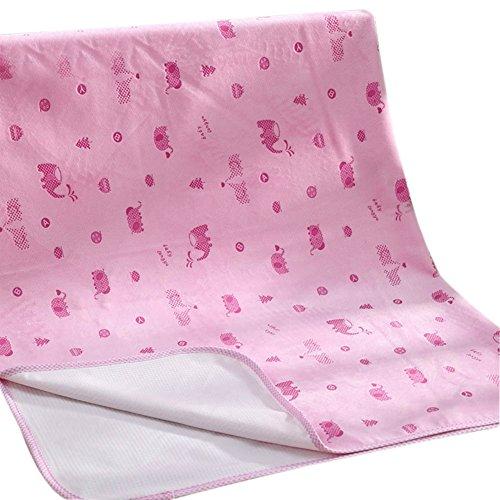 Preisvergleich Produktbild Bewegliche Baby-Windeln 3 Schicht Wasserdichte atmungsaktive Waschbare Frauen Physiologische Periode der Neugeborenen Kinder Matratze (74 * 98cm) (Pink)