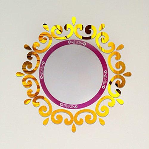 Top Ceilling Spiegel Wandtattoo, Top Beleuchtung der Decke Kronleuchter um Dekorative Spiegel Rahmen Aufkleber, 70x 70cm, DIY Spiegel Wandtattoo