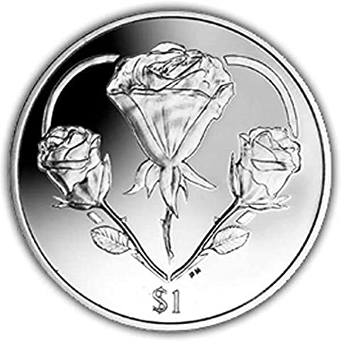 British Virgin Islands 2015 Heart of Roses Coin by Pobjoy Mint Limited