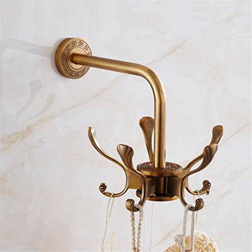 HomJo Gancho de la manija del gancho de la pared del gancho de la pared del gancho de la tela del gancho de la pared del oro para la suspensión accesoria del cuarto de baño Solo ganchos lindos del buho , 3