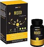 BRAINEFFECT MOOD - Pflanzlicher Stimmungsaufheller - 90 Kapseln - L-Tryptophan & Vitamin D3 + B6 - Mehr Wohlbefinden und gegen Antriebslosigkeit - Vegan