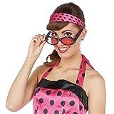 Amakando Rockabilly Haarschmuck - pink-gepunktet - Polka Dots Kopfschmuck Rock n Roll Kleidung Retro Vintage Haarreif 50s 60s Kostüm Accessoire 50er 60er Jahre Haareifen