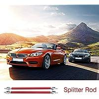 2pcs Universal coche delantero trasero Bumper Lip Splitter varillas de soporte ajustable (Color rojo) (Tamaño: 10 cm)