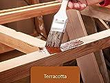5L Holzlack seidenmatt für Parkett, Holzdielen, Holzfussboden, Gartenmöbel | BEKATEQ Holzschutzfarbe Farbe Holzfarben Holzversiegelung auf Wasserbasis für innen und außen hohe Deckkraft, keine Geruchsbelästigung - MADE IN GERMANY Farbe in TERRACOTTA
