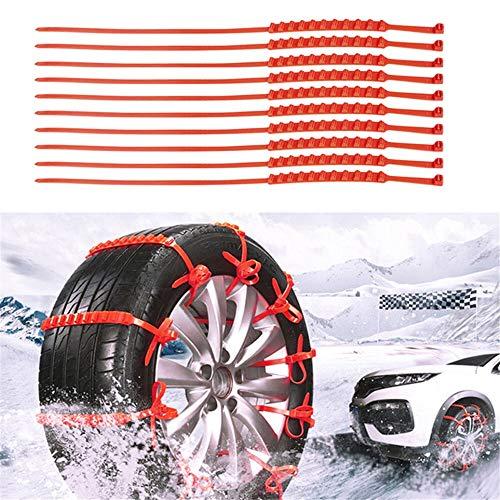 ZHIYM-CHEL, Catene Pneumatici 10pcs Lotto dell'automobile Universale Mini plastica Invernali Ruote Neve for Le Automobili/SUV Car-Styling Anti-Skid Autocross Outdoo