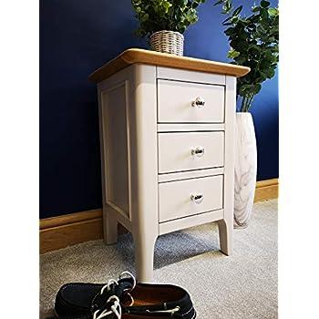 Millstone Grey Bedside Table with Oak Top: Amazon.co.uk ...