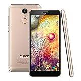 Cubot Nova 2018 4G LTE Smartphone, 5.5 Zoll Handy ohne Vertrag, 18: 9 HD+ IPS Display, Android 8.1, Quad-Core MT6739 1.5GHz, 3GB RAM 16GB ROM, 13.0MP+8.0MP Dual Kameras, Dual SIM, Dual 4G Netzwerk, 0.1s Fingerabdruckerkennung, GPS WIFI (Gold)