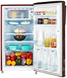 Haier 170 L 3 Star Direct Cool Single Door Refrigerator(HRD-1703BRO, Red Ornate)