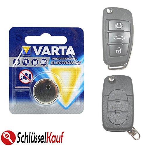 Autoschlüssel Schlüssel Batterie für Klappschlüssel passend für Audi A3 A4 A5 A6 A8 TT