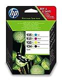 HP 934-935 XL Combo Pack (X4E14AE) Cartucce Originali XL per Stampanti HP a Getto d'Inchiostro, Compatibili con OfficeJet 6820; 6230, 6830, Monocromatico, Ciano, Giallo, Magenta