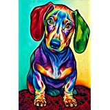 Komking Painting Paint by Numbers for Adults, DIY Paint by Number Kits for Kids Beginner on Canvas, Cute Dog 16x20inch
