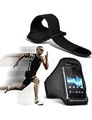 ( Schwarz ) Doogee T5 Lite bei hoher Qualität ausgestattet, Armbinden Sport Laufen Radfahren Bike Fitness Jogging befreien Armband hülle, Case von i-Tronixs