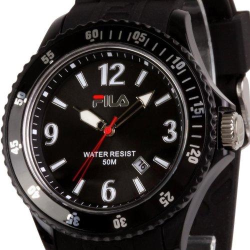 Original FILA analoge Armbanduhr Quarzuhr 5 ATM NEU Trenduhr schwarz