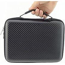 Estuche para disco duro, pen drive, USB GUANHE - portátil, universal, impermeable, resistente a golpes - organizador de accesorios electrónicos en negro