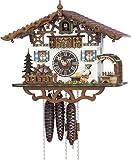 Kuckucksuhr 1-Tag-Uhrwerk Chalet-Stil 26cm von Hönes - Original aus dem Schwarzwald