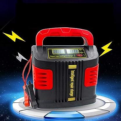 51MP tTUv4L. SS416  - Huihuiya Cargador portátil Inteligente Coche del vehículo Vehículo de Motor 350W 14A Ajuste del Coche LCD Cargador de batería Coche Salto Arrancador Booster-Rojo y Negro