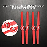 Price comparsion for Dooret ã2 Packsã'13 inch ABS Spare Parts Quick Release Replacement Blade Props Propellers for YUNEEC Typhoon Q500 Drone RC Accessories