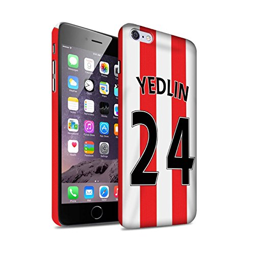Offiziell Sunderland AFC Hülle / Matte Snap-On Case für Apple iPhone 6S+/Plus / Pack 24pcs Muster / SAFC Trikot Home 15/16 Kollektion Yedlin