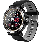 Full skärm touch-smartwatch, IP68 vattentät, herr, klocka och pulsmätare, smartklocka för IOS Android telefon, sportklocka gr
