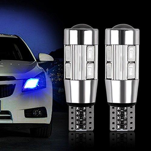 FORNORM SMD 5630 168 194 T10 Lampadina LED Auto LED Canbus W5W, Lampadine a Cuneo LED Lampadine Cruscotto Auto per Interni Auto, Luce Blu, 12V, Confezione da 2