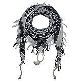 Item: Superfreak® Palituch°PLO Schal°100x100 cm°Pali Palästinenser Arafat Tuch°100% Baumwolle, Muster: Sterne, Farbe: weiß/schwarz