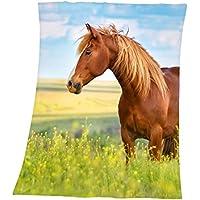 Herding Fleecedecke Young Collection Pferd, Polyester, Bunt, 160 x 130 cm