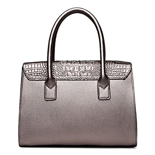 Handtaschen Beutel Set Geldbörsen Set Für Frauen Umhängetaschen Top-Griff Tasche Krokodil Patter PU Leder Messenger Bags Für Damen Mädchen Blue