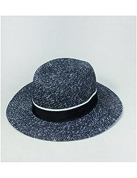 LVLIDAN Sombrero para el sol del verano Lady Anti-Sol Playa sombrero de paja negro